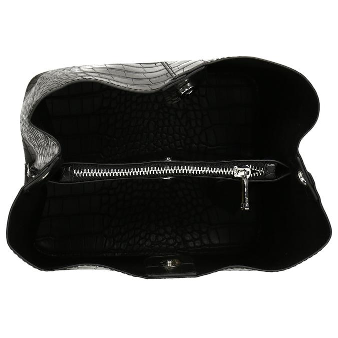 Černá dámská kabelka s hadím vzorem bata, černá, 961-6746 - 15