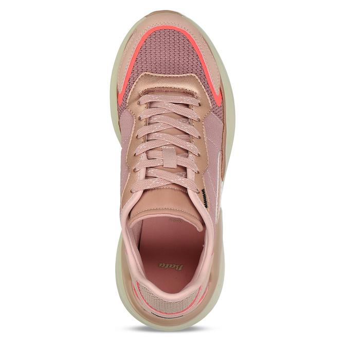 TENISKY DÁMSKÉ RŮŽOVÉ S OZDOBNÝM PROŠITÍM bata, růžová, 541-5604 - 17