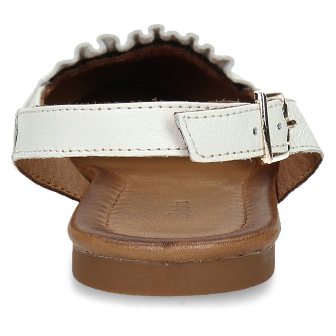 Bílá dámská kožená letní obuv s otevřenou patou bata, bílá, 524-1623 - 15