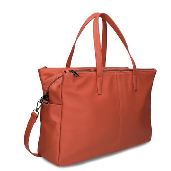 Oranžová dámská kabelka velká bata, oranžová, 961-5646 - 13