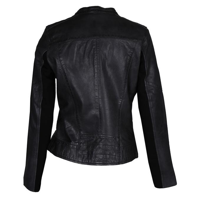 Černá kožená dámská bunda bata, černá, 974-6203 - 26