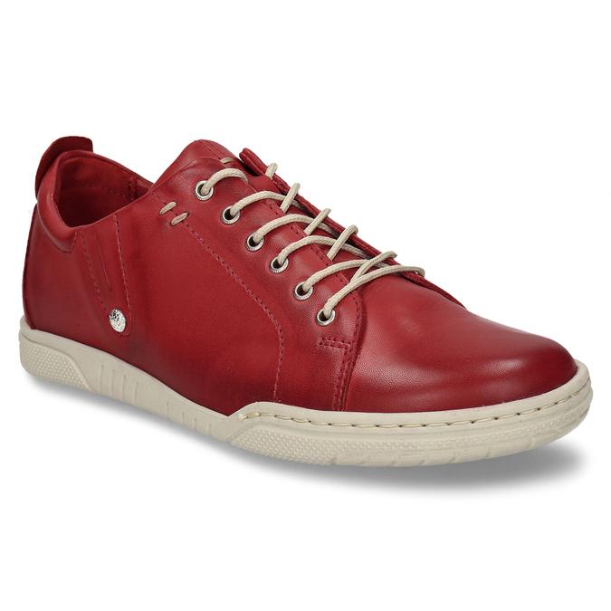 ČERVENÁ DÁMSKÁ KOŽENÁ OBUV S KONTRASTNÍMI PRVKY bata, červená, 524-5600 - 13
