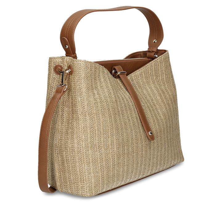 Béžovo-zlatá dámská kabelka bata, béžová, 969-8318 - 13