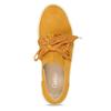 Žlutá kožená dámská slip-on obuv gabor, žlutá, 544-8626 - 17