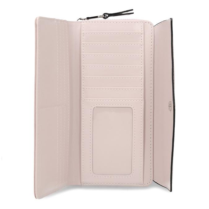 Růžová dámská peněženka s klopou bata, růžová, 941-5112 - 15