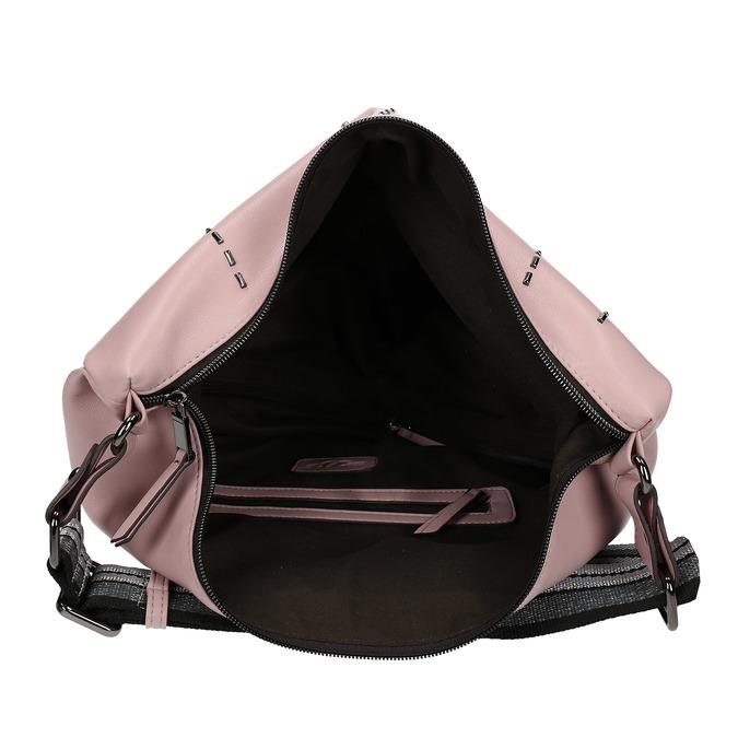 Růžová dámská kabelka s geometrickým vzorem bata, růžová, 961-5674 - 15