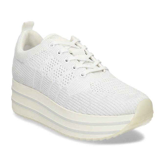 Bílé dámské tenisky na flatformě bata-light, bílá, 549-1600 - 13