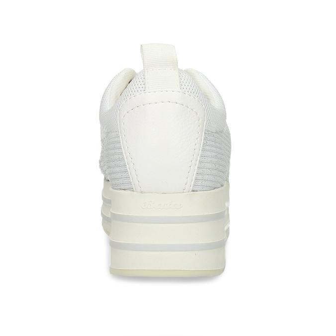 Bílé dámské tenisky na flatformě bata-light, bílá, 549-1600 - 15