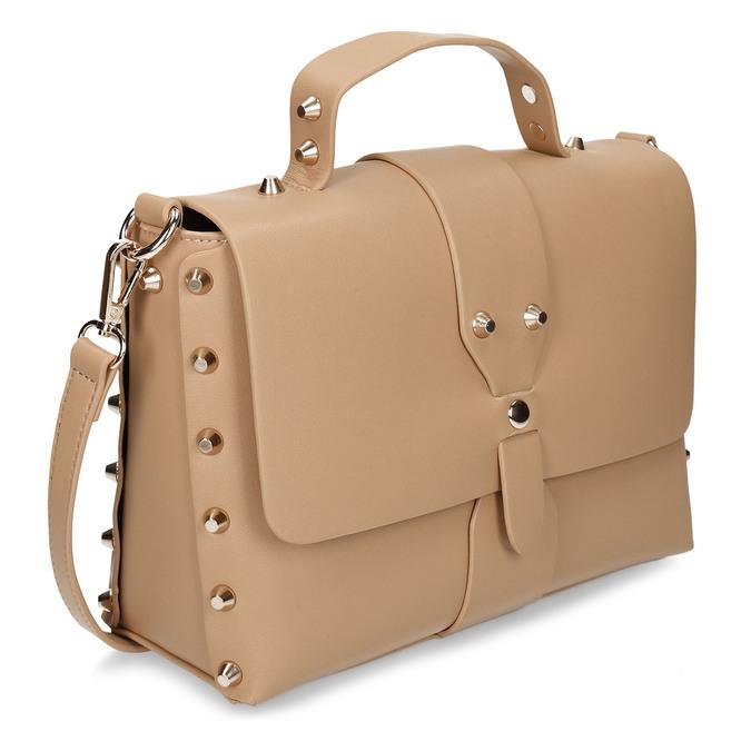 Béžová dámská kabelka s hroty bata, béžová, 961-8640 - 13