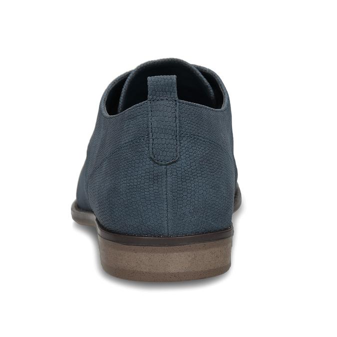 Modré dámské polobotky bata, modrá, 521-9603 - 15