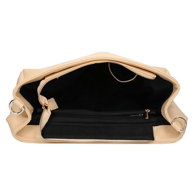Béžová dámská kabelka s řetízkem bata, béžová, 961-8607 - 15