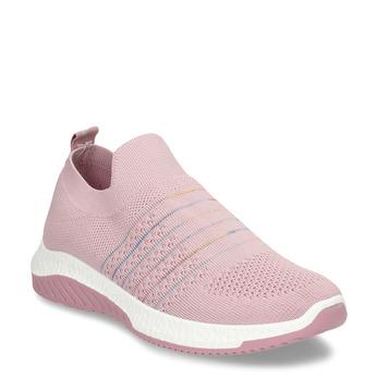 Růžové dámské odlehčené sportovní slip-on tenisky bata-light, růžová, 529-5604 - 13