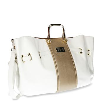 Bílá dámská kabelka s kovovými uchy bata, bílá, 961-1600 - 13