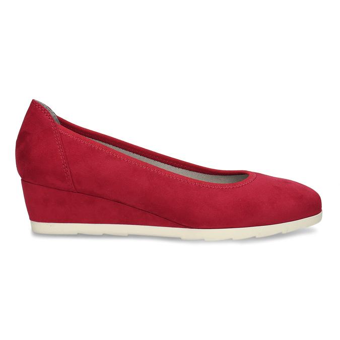 Červené dámské lodičky na klínku bata, červená, 629-5603 - 19