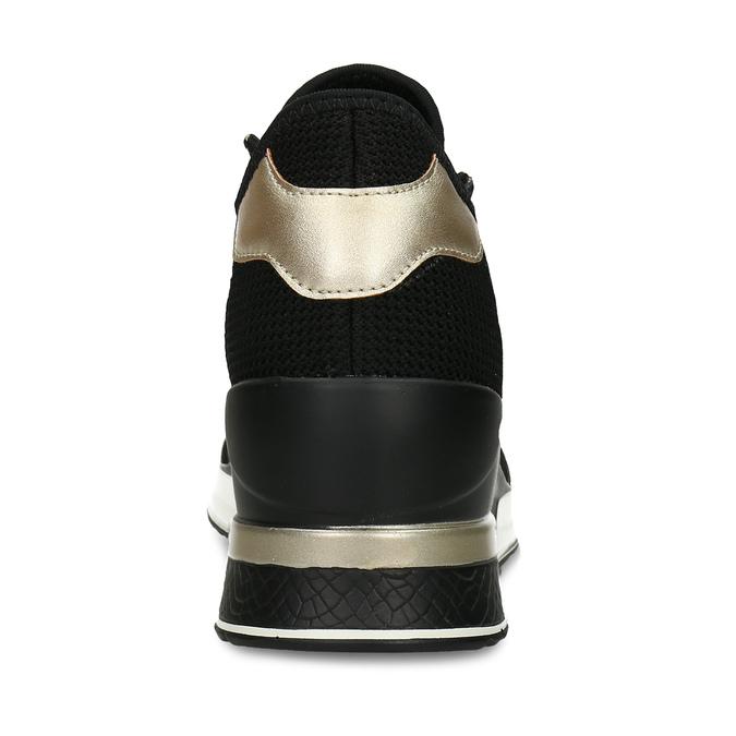 Černé dámské tenisky na klínku north-star, černá, 649-6600 - 15