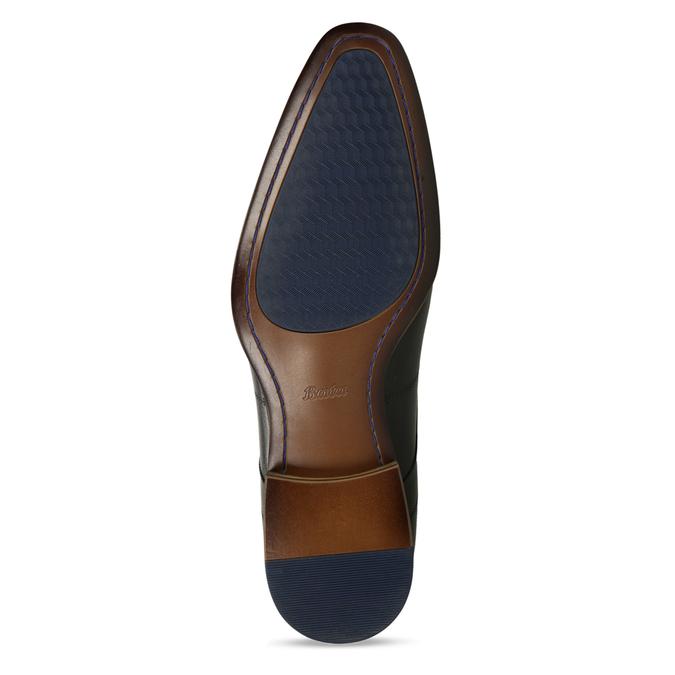 Černé pánské kožené polobotky v derby stylu bata, černá, 824-6708 - 18