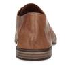 Hnědé pánské kožené polobotky v derby stylu s výraznou perforací bata, hnědá, 526-3605 - 15