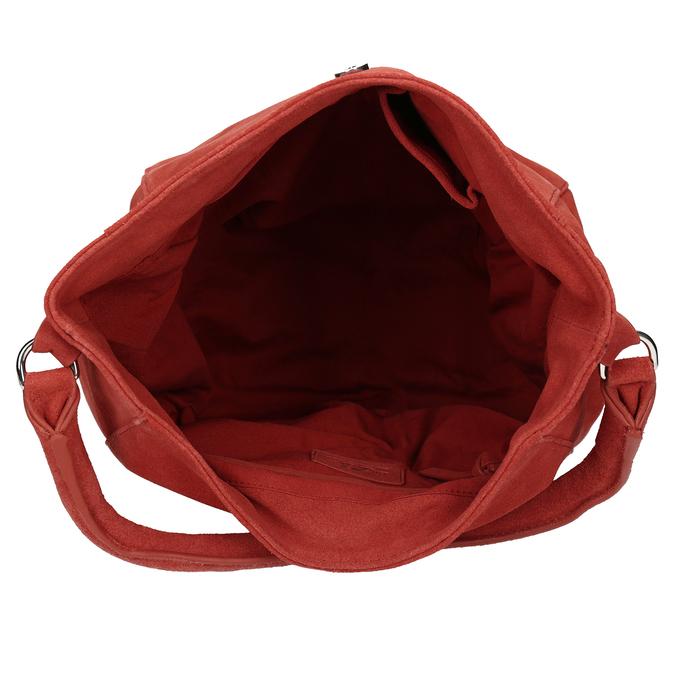 Červená kožená dámská kabelka bata, červená, 964-5643 - 15