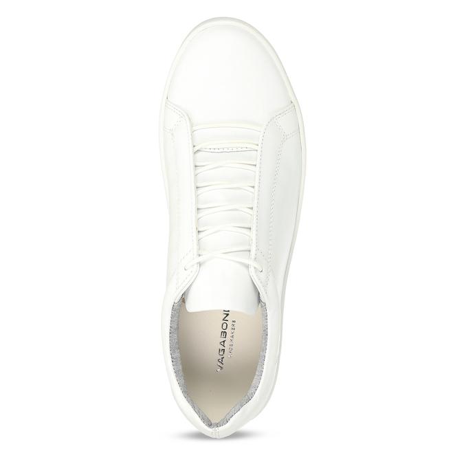 Bílé kožené dámské tenisky vagabond, bílá, 544-1618 - 17