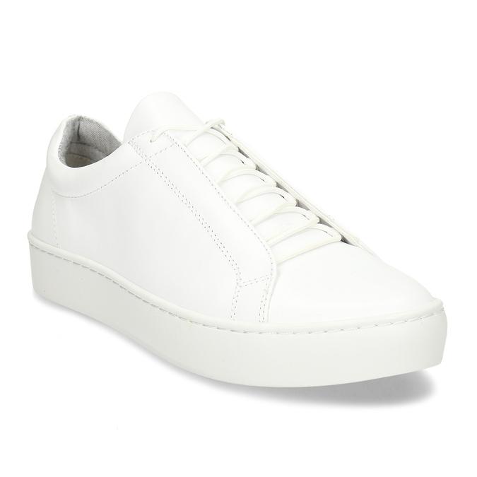 Bílé kožené dámské tenisky vagabond, bílá, 544-1618 - 13
