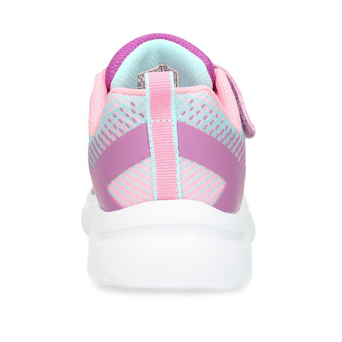 Dívčí růžovo-fialové tenisky na suchý zip skechers, růžová, 309-5614 - 15