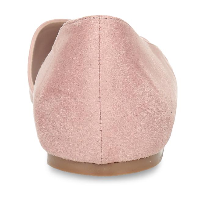 Růžové dámské baleríny s asymetrickým střihem bata, růžová, 529-8603 - 15