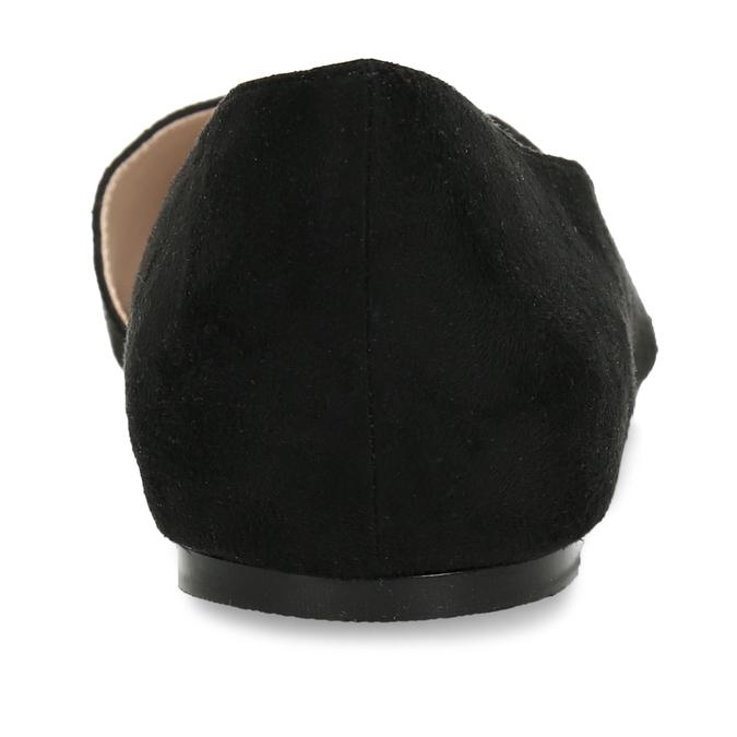 Černé dámské baleríny s asymetrickým střihem bata, černá, 529-6603 - 15