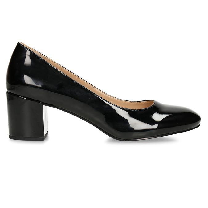 Černé lodičky se širokým podpatkem bata, černá, 621-6608 - 19