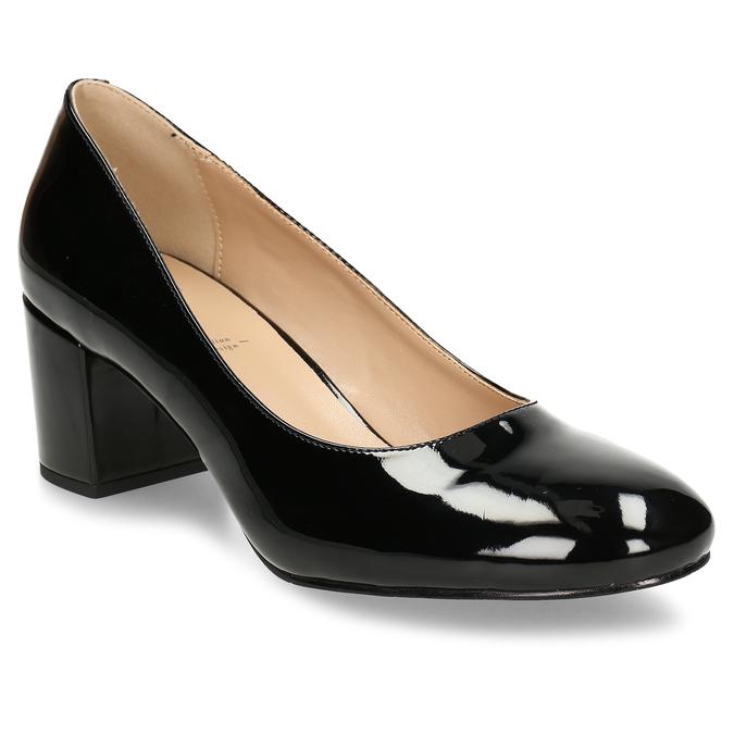 Černé lodičky se širokým podpatkem bata, černá, 621-6608 - 13