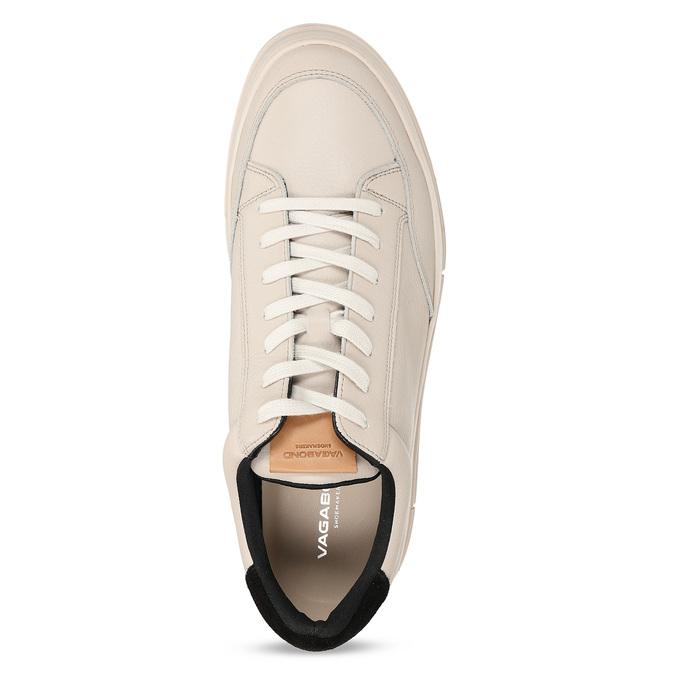 Bílé kožené pánské městské tenisky vagabond, bílá, 844-1604 - 17