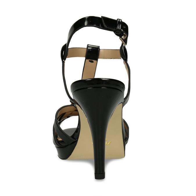 Černá dámská obuv s koženou stélkou na vysokém podpatku bata, černá, 751-6600 - 15