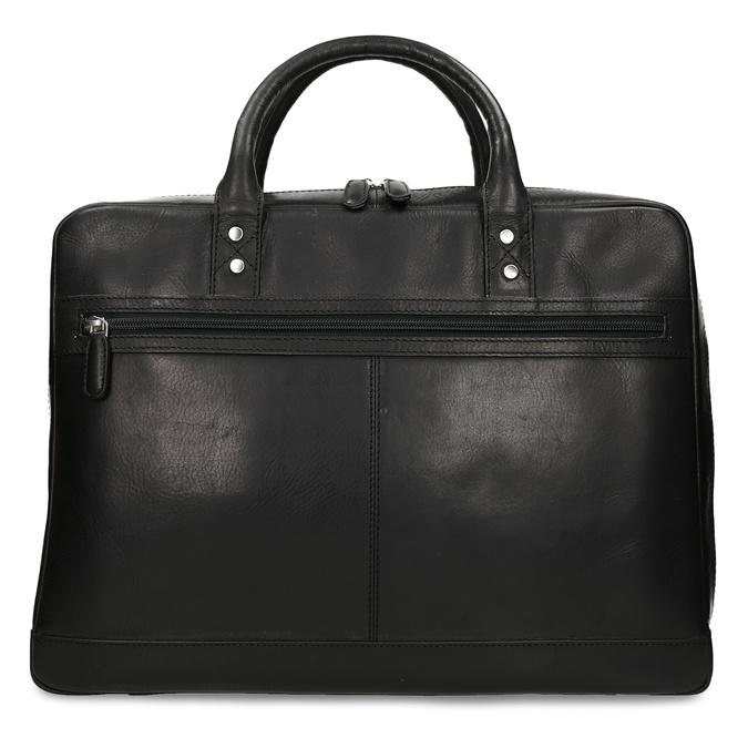 Kožená pánská černá taška na notebook bata, černá, 964-6650 - 26