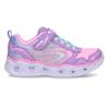 Fialové dětské sneakersky se svítícími srdíčky v podešvi skechers, fialová, 309-9619 - 19