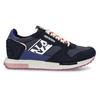 Černé dámské kožené sneakersky s fialovou podešví napapijri, modrá, 543-9602 - 19