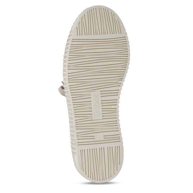Béžové dámské lakované kožené tenisky gabor, béžová, 548-8600 - 18