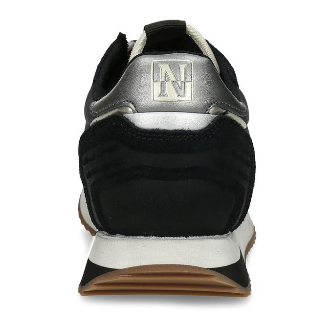 Černé dámské kožené sneakersky napapijri, černá, 543-6602 - 15