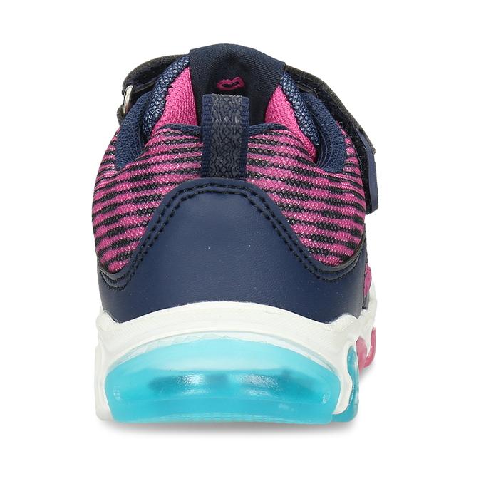 Dívčí tenisky s blikající podešví bubblegummers, vícebarevné, 329-9600 - 15