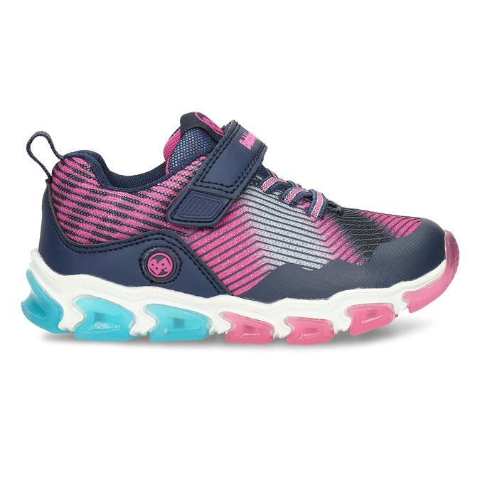 Dívčí tenisky s blikající podešví bubblegummers, vícebarevné, 329-9600 - 19