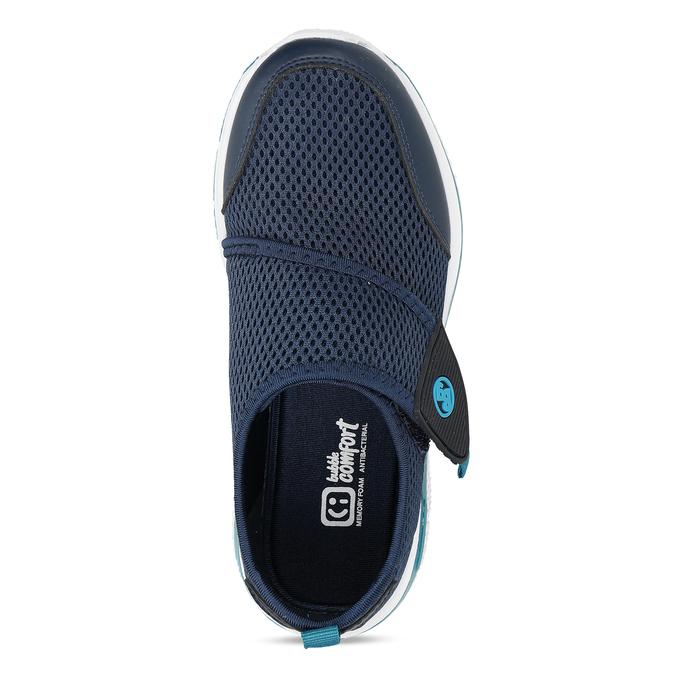 Modré dětské tenisky na suchý zip bubblegummers, modrá, 319-9324 - 17