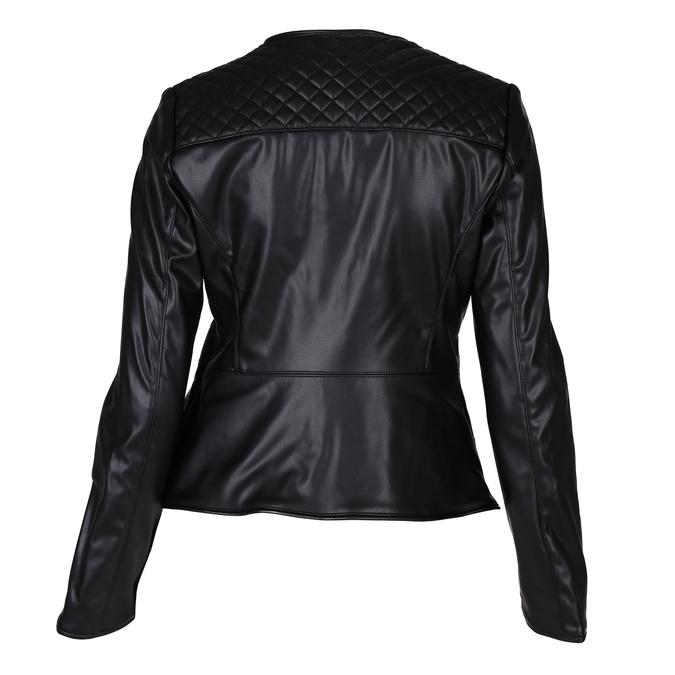 Černá dámská koženková bunda s prošíváním bata, černá, 971-6280 - 26