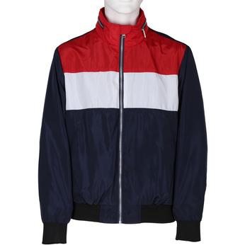 Modrá pánská sportovní bunda s červeným a bílým pruhem bata, modrá, 979-9596 - 13