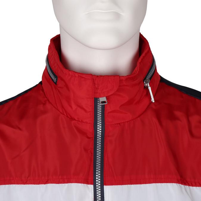 Modrá pánská sportovní bunda s červeným a bílým pruhem bata, modrá, 979-9596 - 16