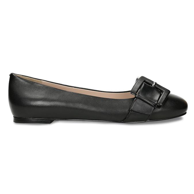 Kožené dámské baleríny černé bata, černá, 524-6641 - 19
