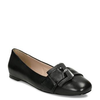 Kožené dámské baleríny černé bata, černá, 524-6641 - 13