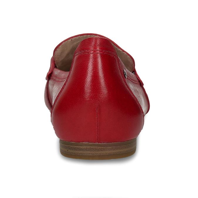 Červené dámské kožené mokasíny bata, červená, 514-5600 - 15