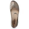Stříbrné dámské kožené sandály s dekorativní perforací pikolinos, stříbrná, 524-1634 - 17