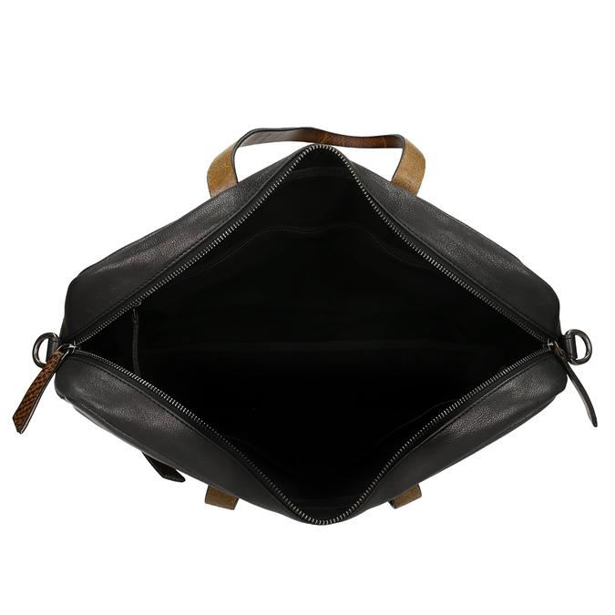 Černá pánská kožená taška na notebook bata, černá, 964-6651 - 15
