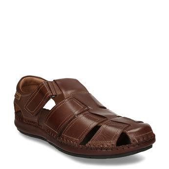 Hnědé pánské kožené sandály pikolinos, hnědá, 864-4612 - 13