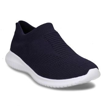 Tmavě modré dámské Slip-on tenisky bata-light, modrá, 529-9605 - 13
