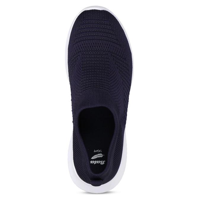 Tmavě modré dámské Slip-on tenisky bata-light, modrá, 529-9605 - 17